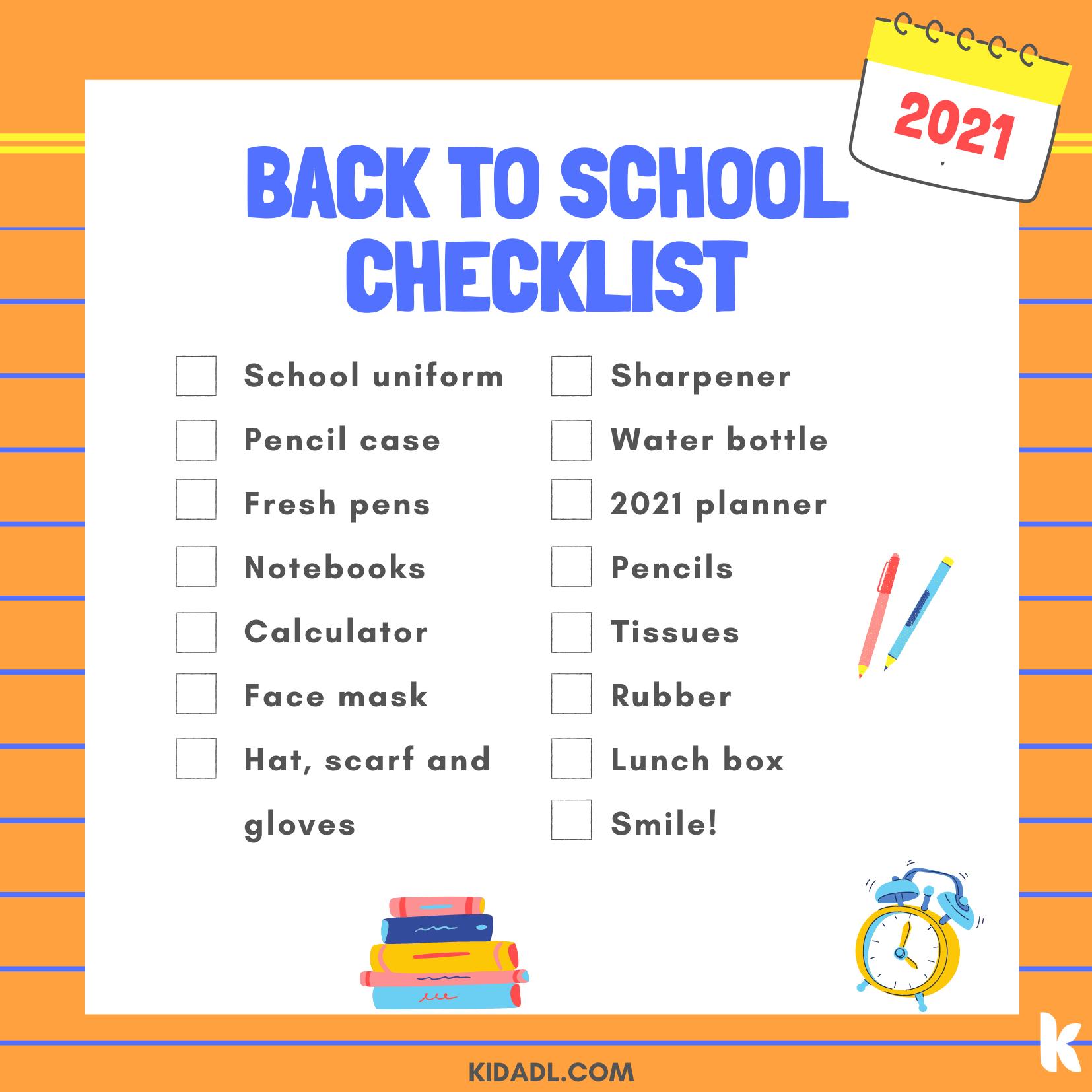 Read this back to School Bingo checklist to prepare for school.g