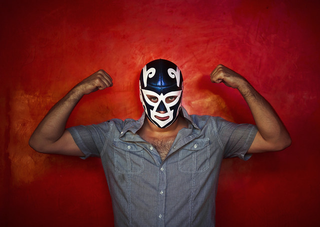 Famous Mexican wrestlers are known for their movements and speed to knock down the opponent.