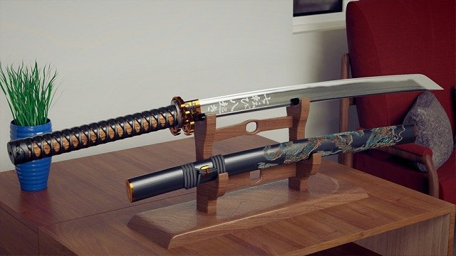 A katana is a type of Japanese sword forged with exquisite beauty