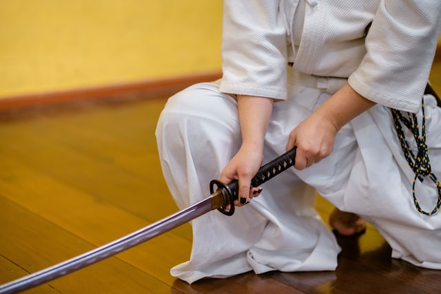 A Japanese sword should be handled with caution and safety at all times.