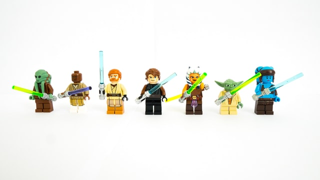 Star Wars characters like Yoda are iconic.