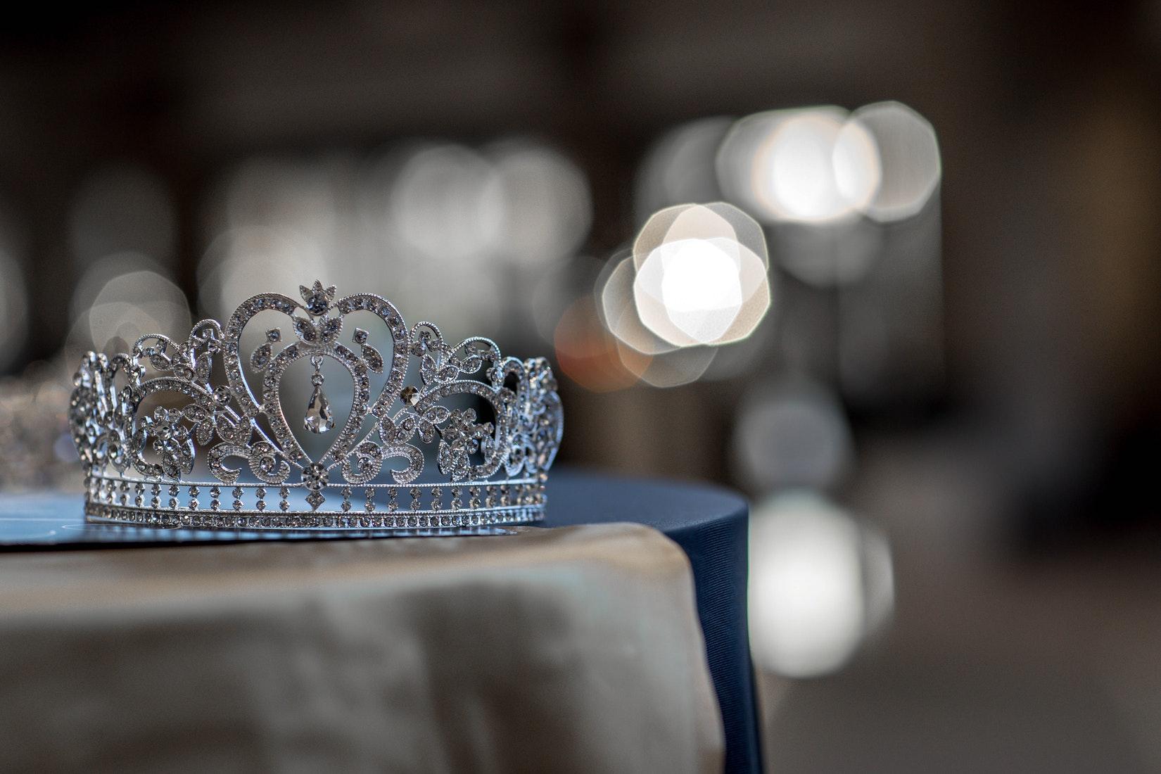 tiara on table
