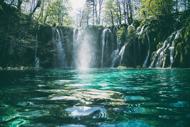 The beauty of nature lies in waterfalls.