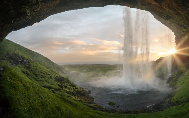 There are a few things in nature as beautiful as waterfalls during sunsets.