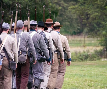 Some people re-enact the American Civil War today.