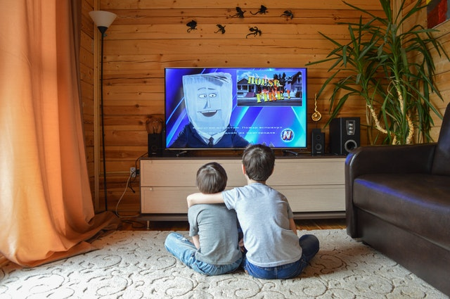 We all love watching cartoons on the television.
