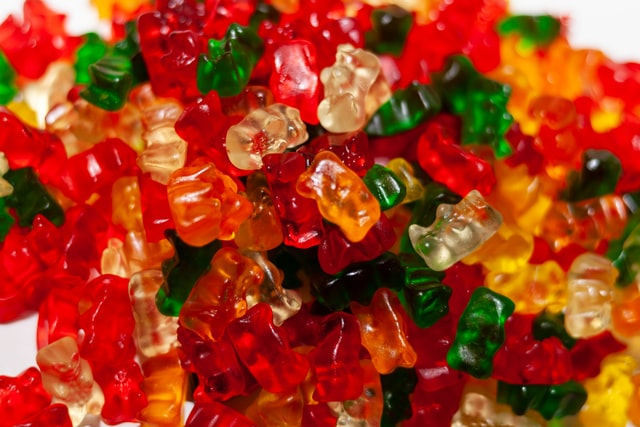 Gummy candies are loved by many kids.
