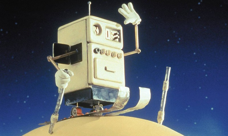 The least familiar robot comes from the Wallace and Gromit film, 1988's A Grand Day Out.