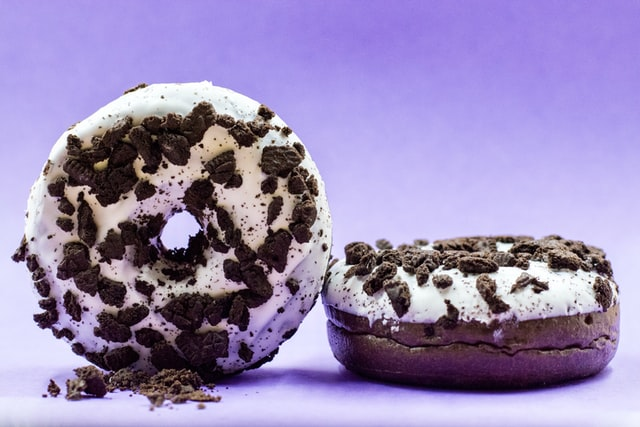 Donuts are a fried dough confectionery with a hole in the middle.