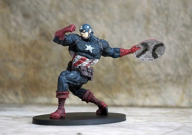 A Captain America Figurine is exciting for people of all ages.