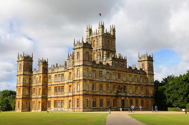 Highclere castle is where the making of' Downton Abbey' took place.
