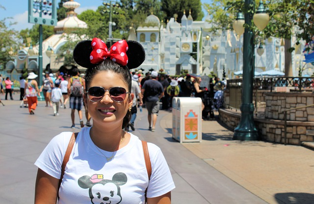A Disney fan at Disneyland.