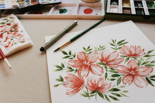 Watercolor gives an aesthetic effect on paintings.