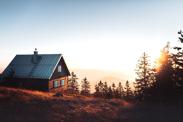 Cabins offer a natural space away from cities, for a peaceful living.