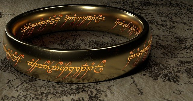 The all powerful ring from J.R.R. Tolkien's 'Lord Of The Rings'.