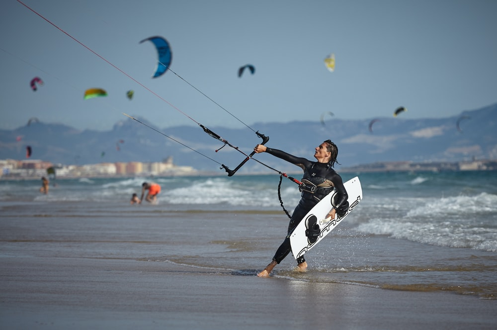 Kiteboarding or kitesurfing is the best workout too