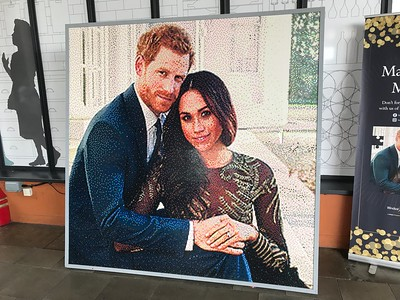 This picture of Harry and Meghan shows the versatility of Lego.