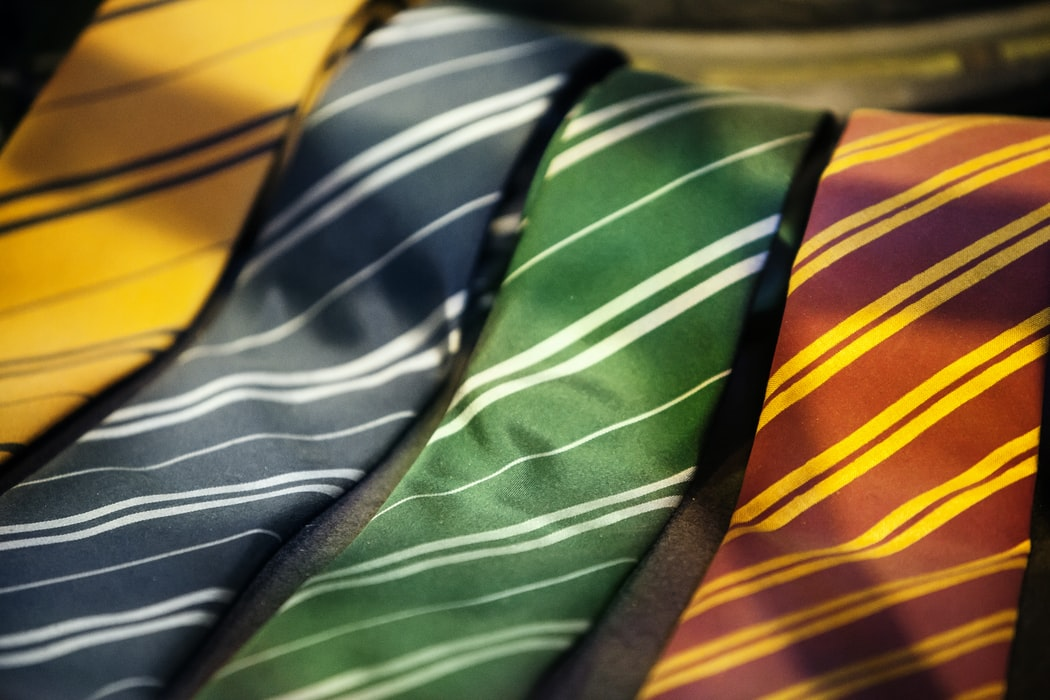 The four houses of Harry Potter: Hufflepuffs, Ravenclaw, Gryffindor, and Slytherin.