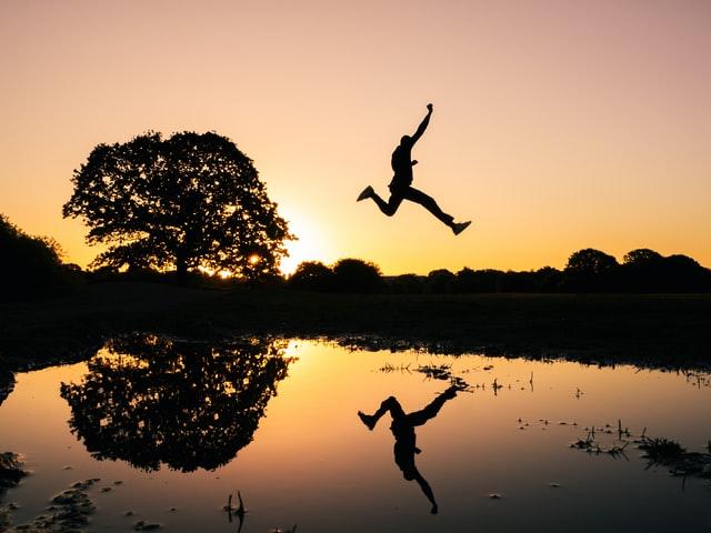Leap of faith helps climb mountains.