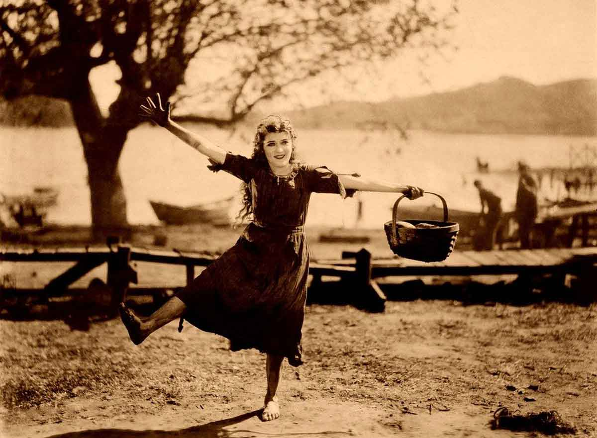 """Actress Mary Pickford was also given the nickname """"The girl with the curls"""""""