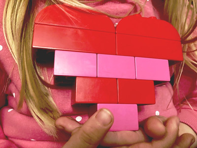 A Lego heart is easy to make, so long as you've got plenty of red or pink blocks.