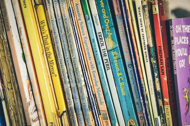 Children love selecting books that look colorful and have friendly characters