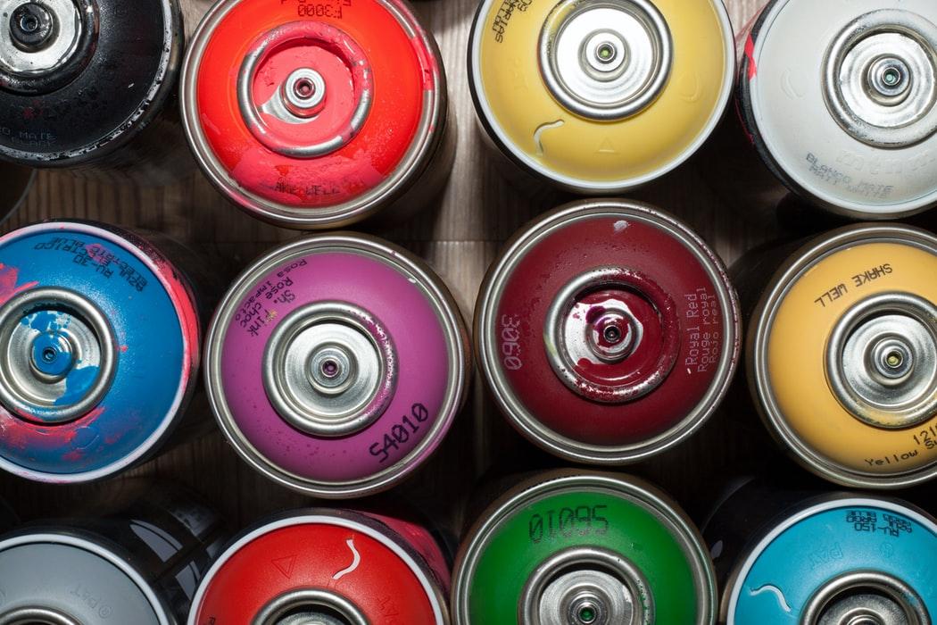 Famous Banksy artwork is created using graffiti.