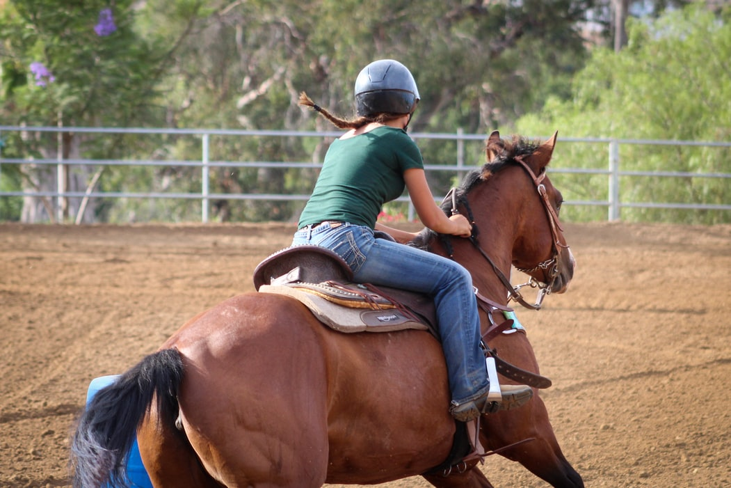 Training for riding a barrel race can be hard work.