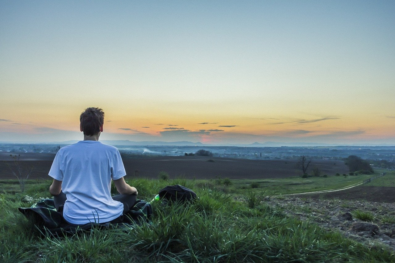 Sit alone, feel calm, and feel the awareness and happiness rise in you.