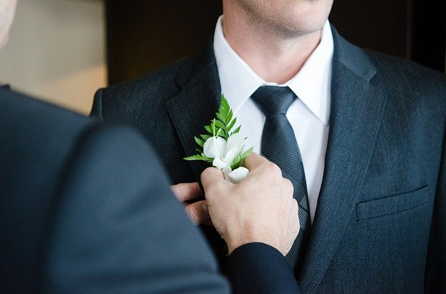 The best man is the right hand of the groom at the wedding.