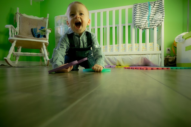 Playing with your child promotes emotional development as well as motor skills.
