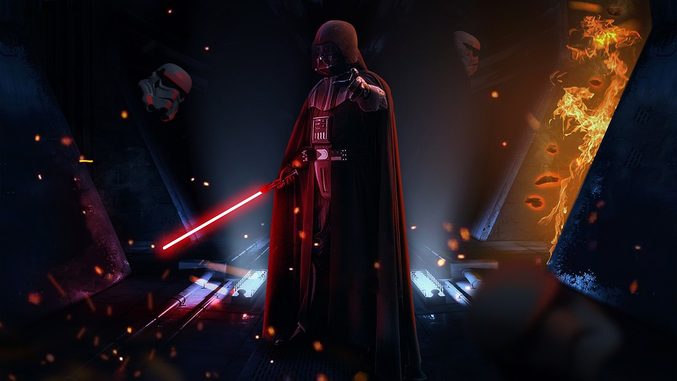 Darth Vader, Luke Skywalker's father and the main antagonist feature in 'Star Wars'.