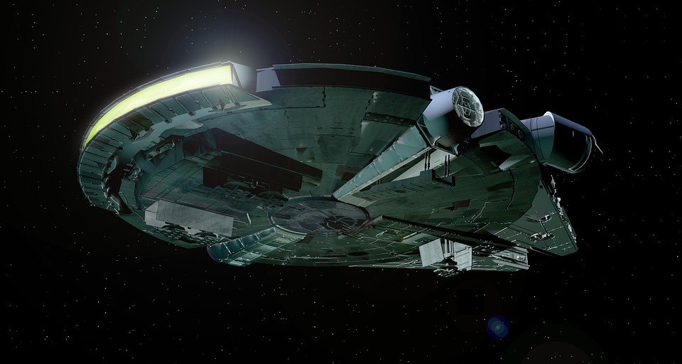 The Millenium Falcon, Han Solo's ship from 'Star Wars'