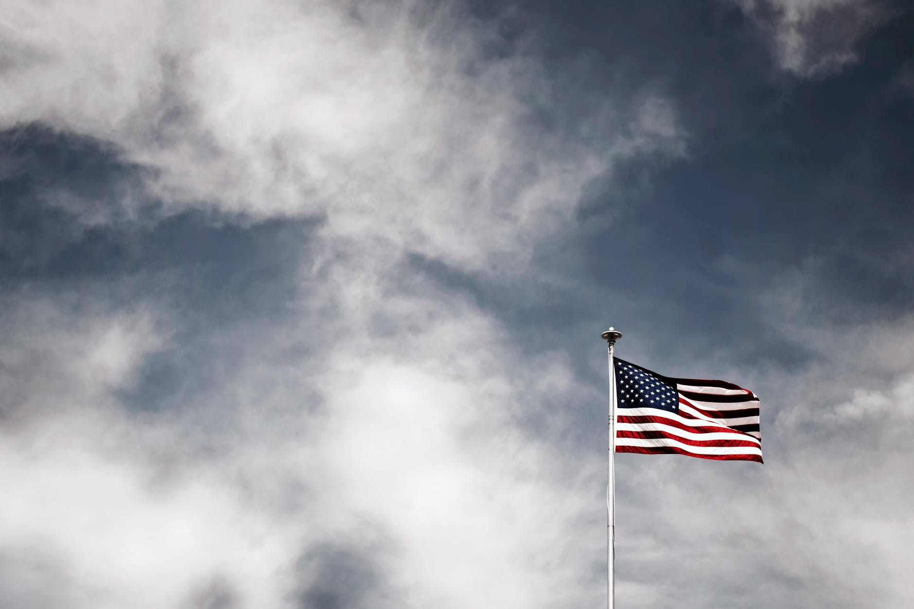 American flag with stars and stripes is recognized globally.