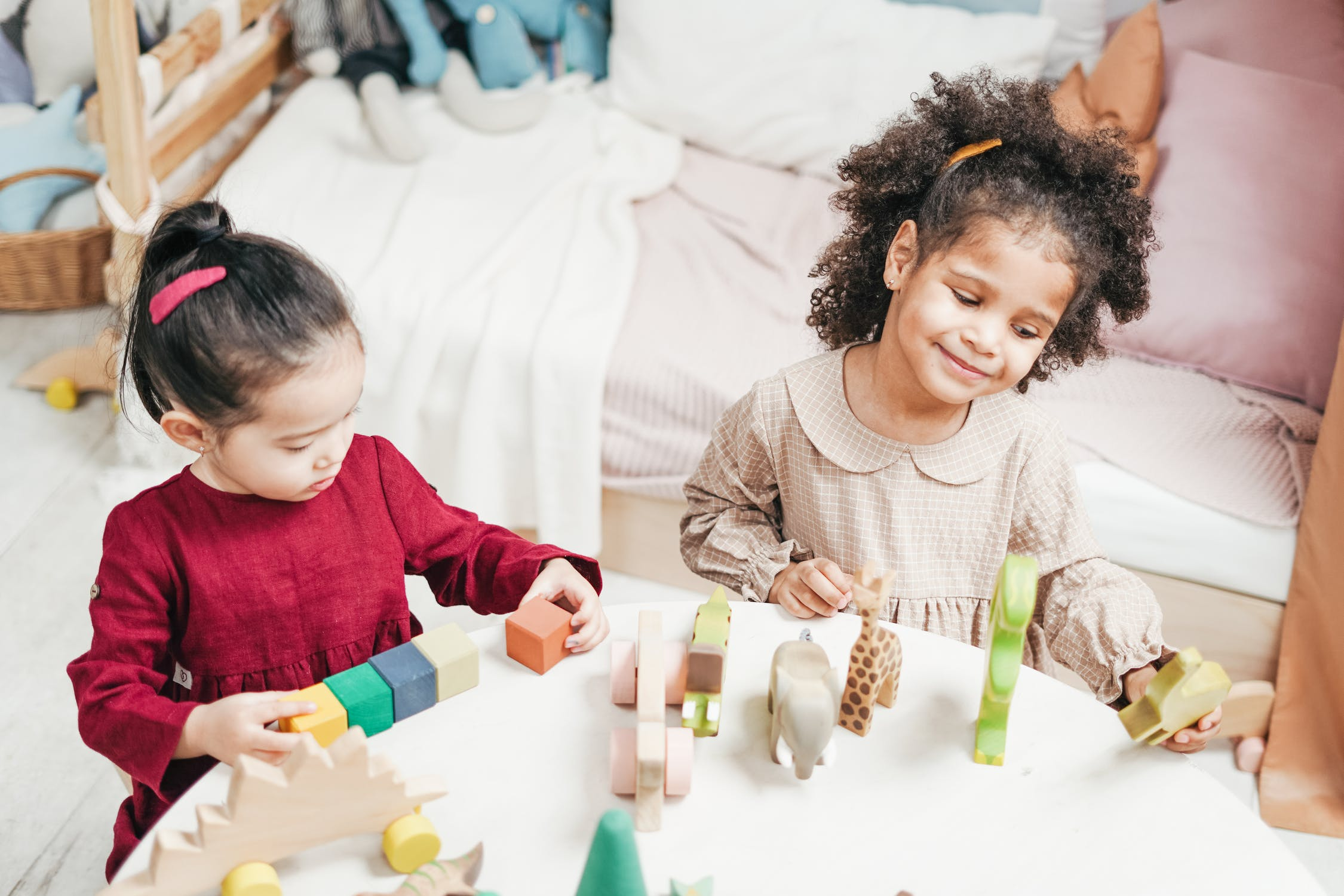 Creating stations for kids to play at will make parties easy to organize.