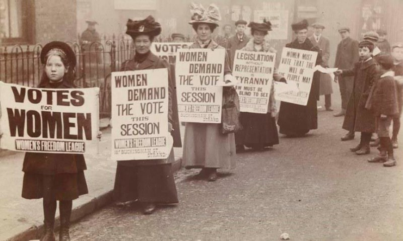 Museums and galleries often redisplay material giving emphasis to womens history.