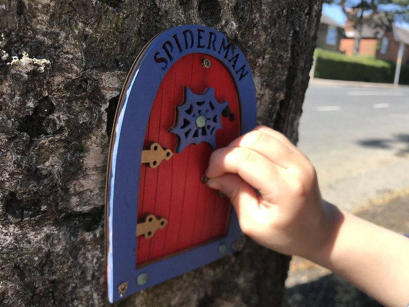 We finish the walk with a visit to another noted fairy landmark,  the home of 'Spiderman'.