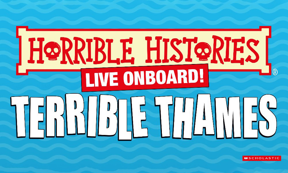 Horrible Histories Live Onboard! Terrible Thames promotional poster.