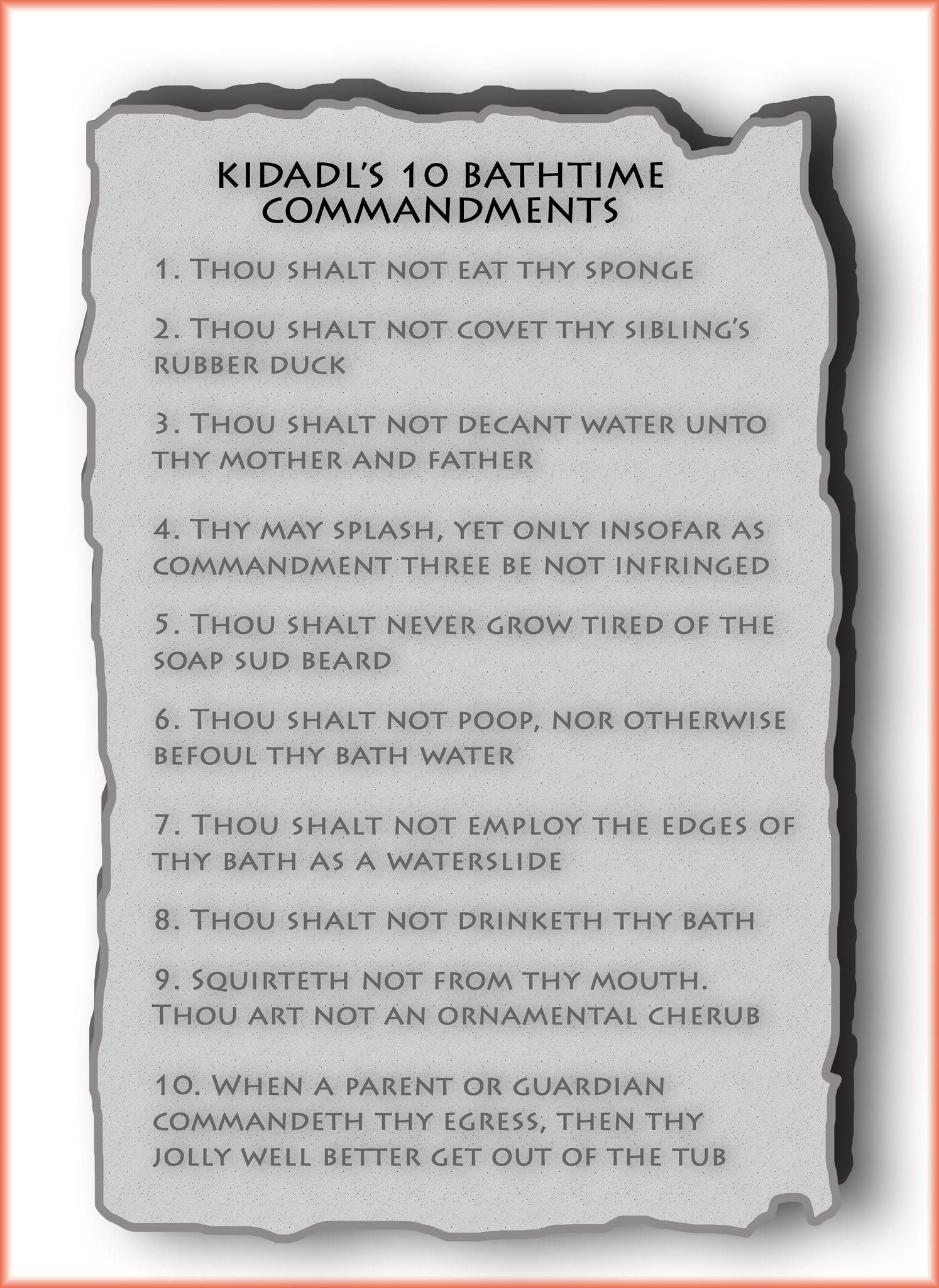 Kidadl's 10 bathtime commandments