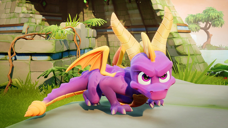 Spyro the dragon from a series of video games.