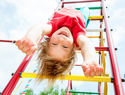 Children spend majority of their time growing up on a playground.