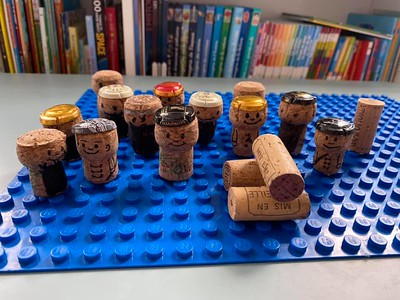 Some people find collecting champagne corks a rather amusing hobby.