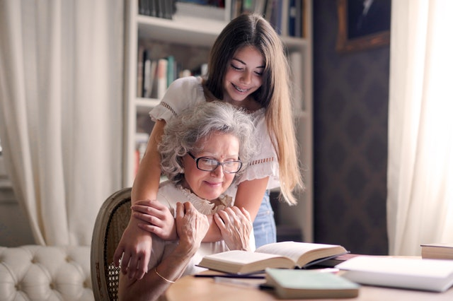Asking their grandparents about their lives is a great way to help your kids build closer relationships with them.