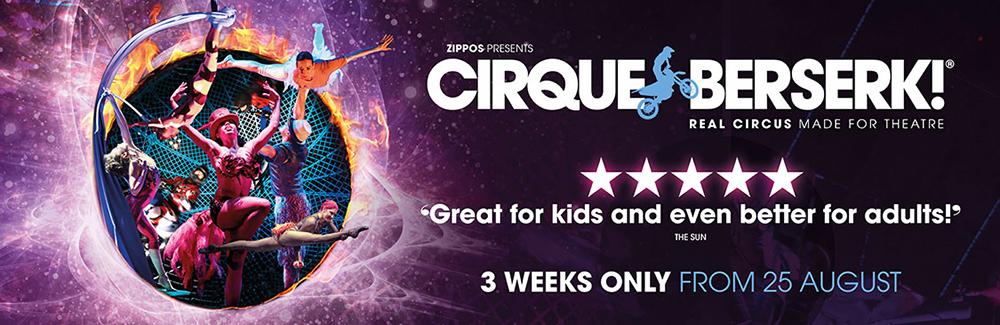See the awe-inspiring Cirque Berserk at the Garrick Theatre.