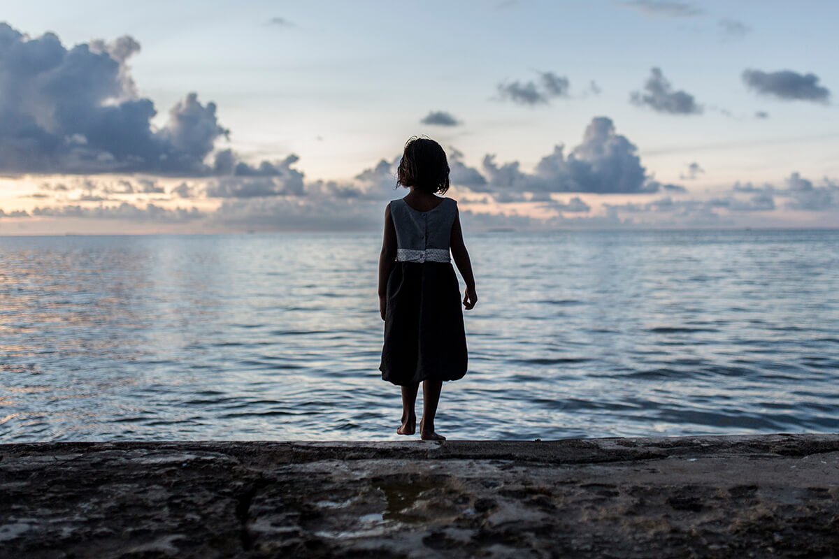 Image of little girl at the seaside