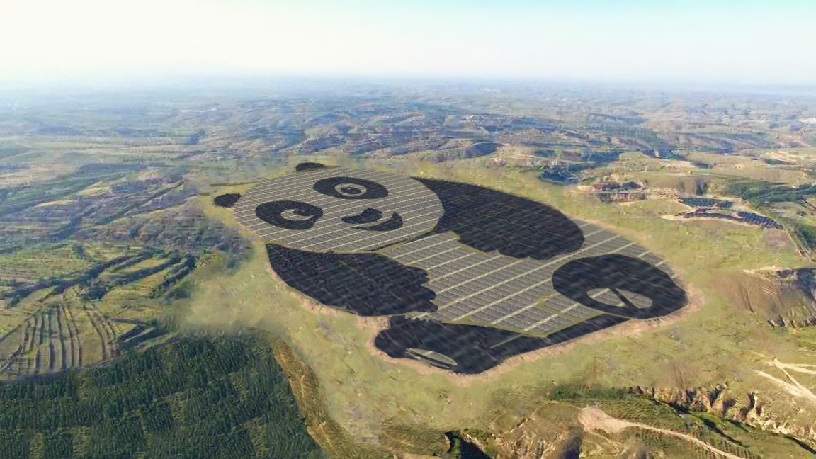 ‍Artist's impression of a solar farm in China. Source: Chinese Merchants New Energy / Panda Energy.