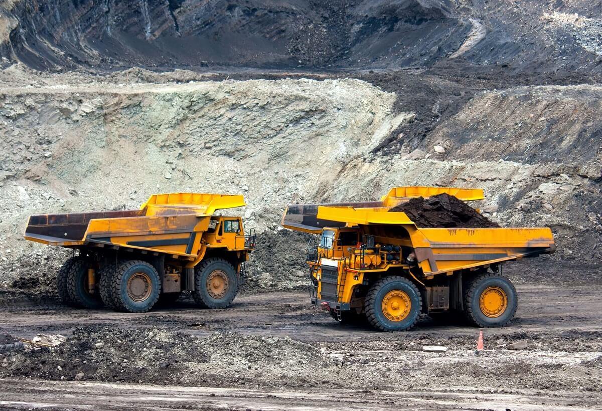 Coal Mine Trucks in mine