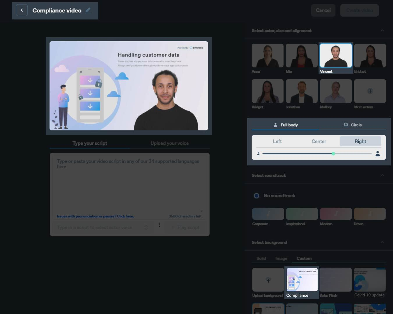 Compliance AI Video example