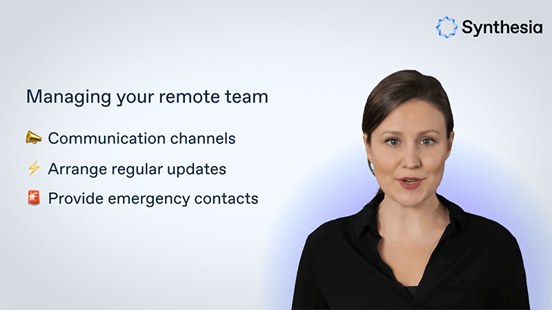 Training video - manager guidelines