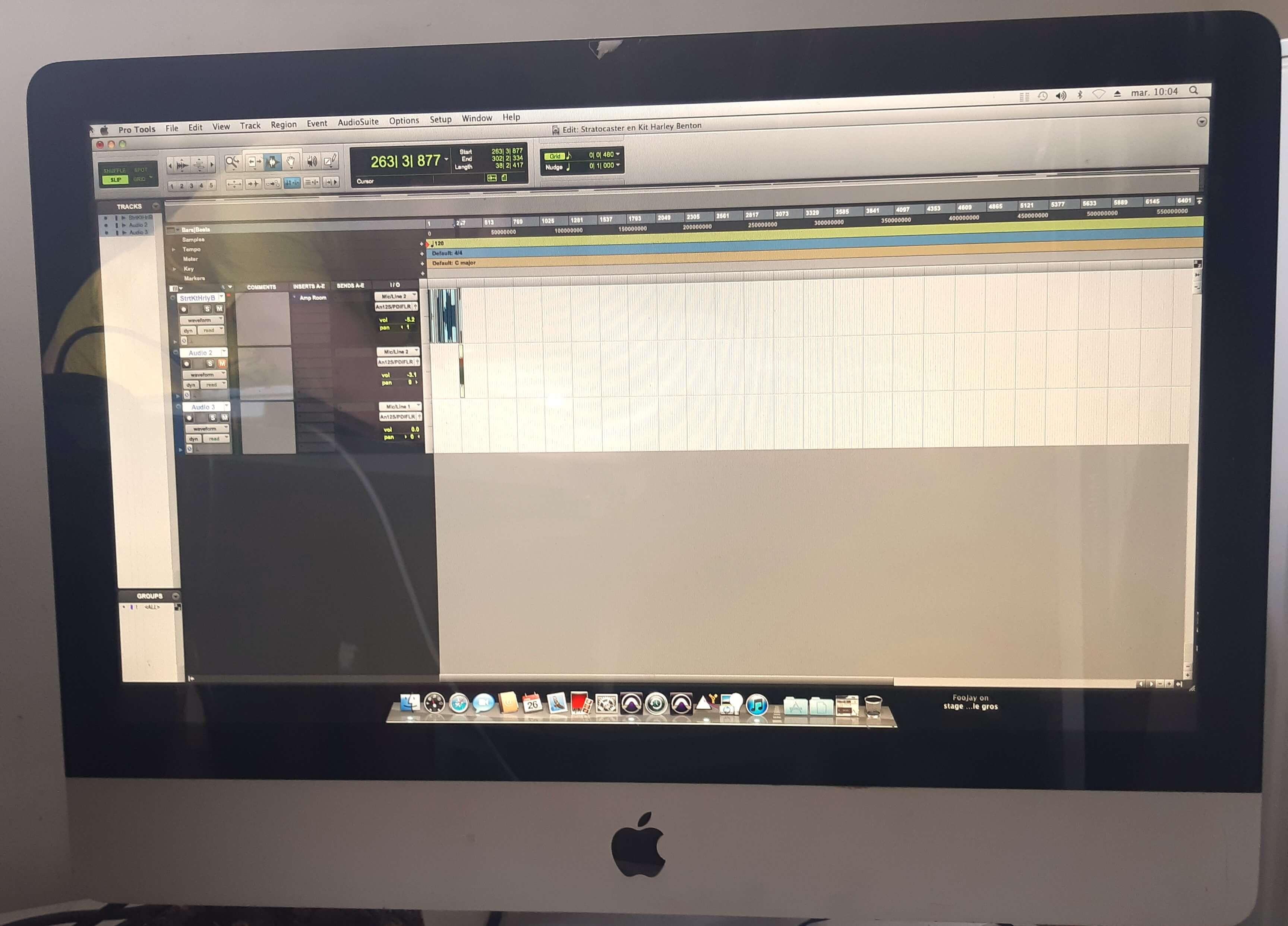 Pro tools editing window enregistrer sa guitare